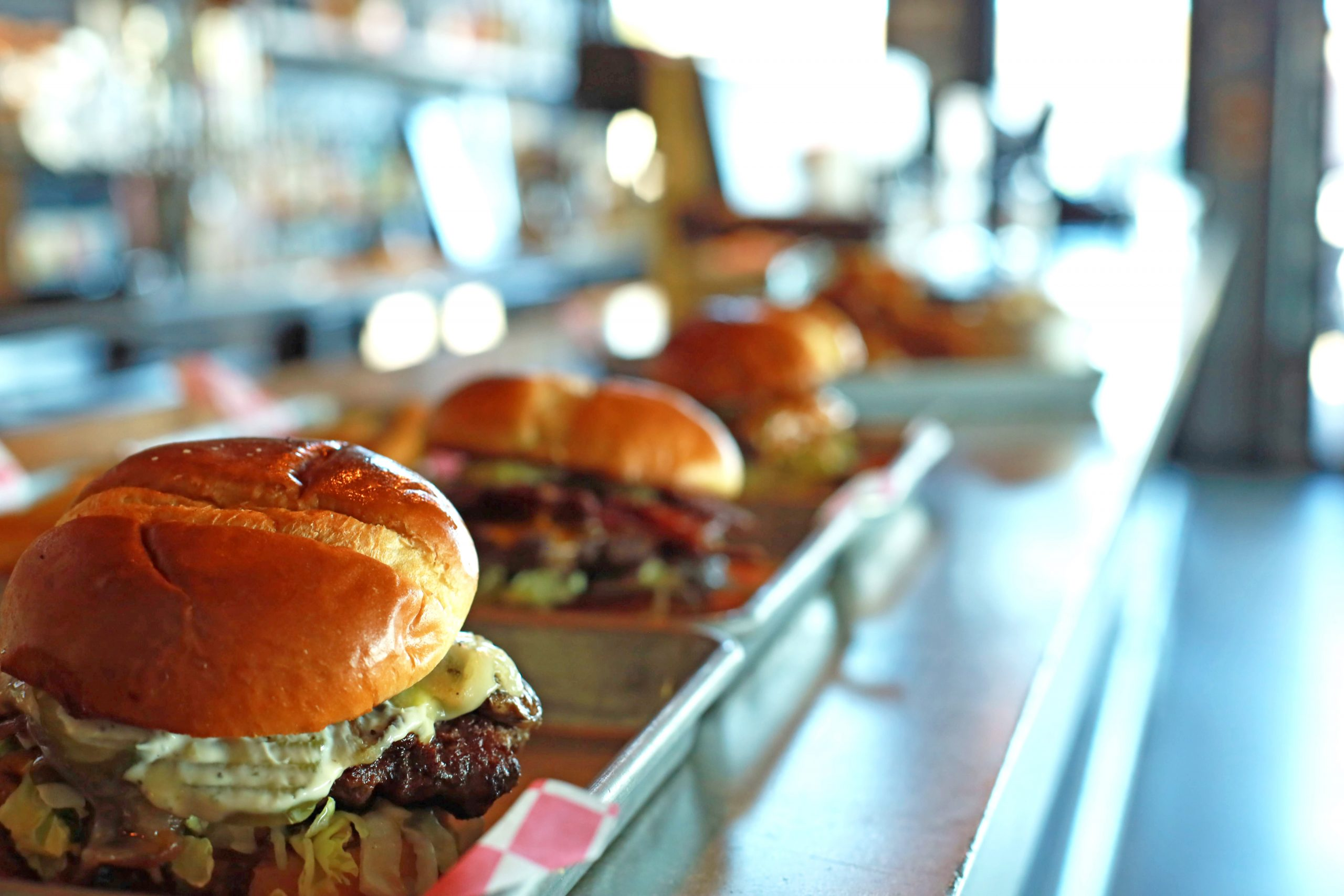 Handcrafted burgers at Farmhouse Burgers, BBQ & Events